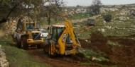 الاحتلال يجرف أراضي قرية عينابوس جنوب نابلس
