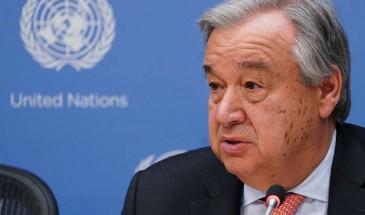غوتيريش يدعو لاستئناف المفاوضات الفلسطينية الإسرائيلية وفق قرارات الأمم المتحدة