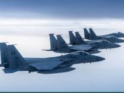 طائرات سعودية أمريكية تحلق فوق خليج عمان