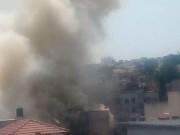 قلقيلية: حريق هائل في مصنع بحي القرعان