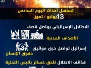 عدوان غزة 2014.. تسلسل أحداث اليوم السادس