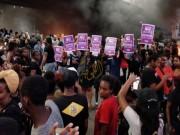 الفلاشا اليهود يتظاهرون مجددا أمام الكنيست الإسرائيلي