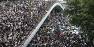 مئات الآلاف يواصلون الاحتجاج في هونغ كونغ رغم هطول الأمطار