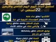 عدوان غزة 2014.. تسلسل أحداث اليوم الخامس والأربعين
