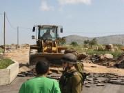 الاحتلال يستولي على جرافة جنوب نابلس