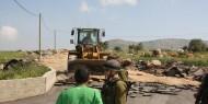 الاحتلال يستولي على آليات ثقيلة لصالح بناء مستشفى بمنطقة زيف جنوب الخليل