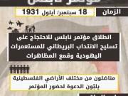 """صفحات من تاريخ الثورة الفلسطينية.. """"مؤتمر نابلس"""" 1931"""