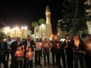 """""""بيت لحم"""" تتضامن مع الأسرى بالشموع في ساحة المهد"""