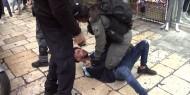 الاحتلال يقمع وقفة لمساندة الأسرى المضربين عن الطعام