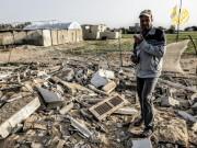 استهداف قوات الاحتلال لمنزل يعود لعائلة العمور شرق خان يونس
