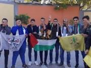بالصور|| الشبيبة الفتحاوية بمدارس غزة تتضامن مع الصحفي معاذ عمارنة
