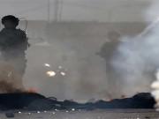 اختاقات بغاز الاحتلال في مخيم العروب