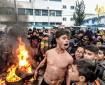 خاص بالفيديو والصور|| مسيرات عفوية وغاضبة لطلبة المدارس في مدينة خانيونس