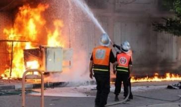 الدفاع المدني يخمد حرائق اندلعت بـ850 شجرة زيتون في جنين