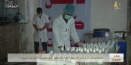 المصانع في غزة تعزز قدرتها الإنتاجية لتوفير المعقمات الواقية من كورونا