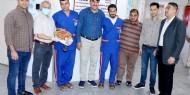 صور|| تيار الإصلاح يزور مستشفي أبو يوسف النجار في رفح