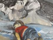 فيديو  الفلسطينية نسرين وشاح توثق جاحة كورونا من خلال الفن التشكيلي