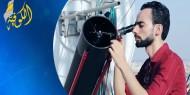 خاص بالفيديو|| هيثم الحفني.. شاب غزي يحلق في الفضاء وسط النجوم والكواكب