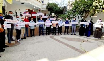 حركة فتح في رفح تنظم وقفة احتجاجية رفضا للاعتقال السياسي بالضفة