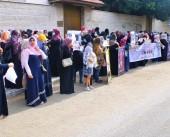 مجلس المرأة ينظم وقفة تضامنية مع الأسير ماهر الأخرس