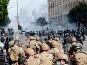 بالفيديو|| مصابون خلال مواجهات بين الأمن اللبناني ومحتجين حاولوا اقتحام طرابلس
