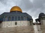 هطول الأمطار على المسجد الأقصى