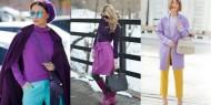 بالصور|| ألوان تتناسب مع اللون البنفسجي في الملابس