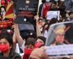 بالصور|| احتجاج الآلاف بعد إضراب ميانمار