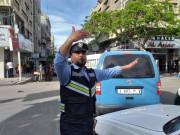 الحالة المرورية وحركة المركبات في قطاع غزة