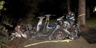 """""""تسلا"""" تكشف حقيقة الحادث المروري القاتل لإحدى سياراتها في تكساس"""