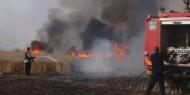 """الإعلام العبري: اندلاع حرائق في """"غلاف غزة"""" إثر بالونات أطلقت من القطاع"""