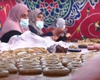 خاص بالصور والفيديو   كعك المبادرون.. مبادرة غزية لتوزيع الكعك على الأسر المتعففة في رفح