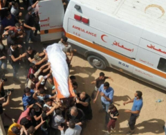 بيت لحم: جماهير غفيرة تشيع جثمان الشهيدة رحاب الحروب