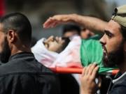 بالصور|| موكب حاشد لتشييع شهداء العدوان الإسرائيلي على قطاع غزة