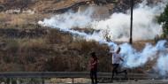 محدث   إصابة بالرصاص والعشرات بالاختناق خلال قمع الاحتلال مسيرة منددة بالاستيطان في حزما