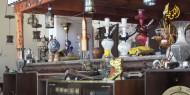 مقهى شعبي في غزة يقدم لزواره التاريخ الفلسطيني وعبق الأجداد
