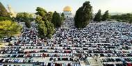 100 ألف أدوا صلاة العيد في المسجد الأقصى المبارك