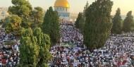 100 ألف مصل يؤدون صلاة عيد الأضحى بالمسجد الأقصى